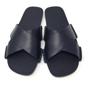 NWB Vince Nico Cross Strap Slide Sandal Navy 7.5